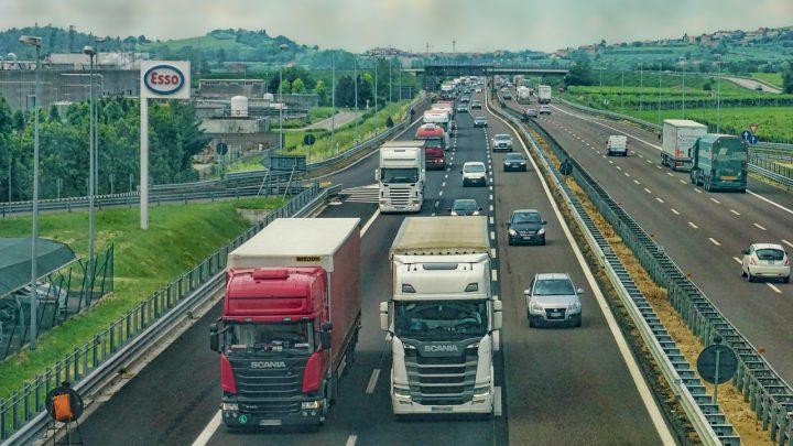 highway, road, trucks